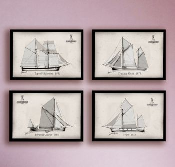 Topsail Schooner, Trading Ketch, Spritsail Barge, Trow